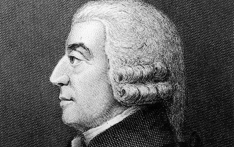 Gilt als Begründer der klassischen Nationalökonomie: Adam Smith. - adamsmith