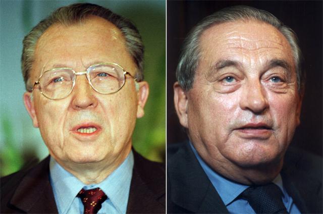 Jacques Delors und Karl Otto Pöhl. (Fotos: Keystone) - NevermindDP
