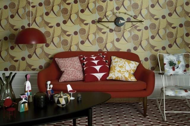 Zweisitzer f rs wohnzimmer sweet home for Sofa 40er jahre