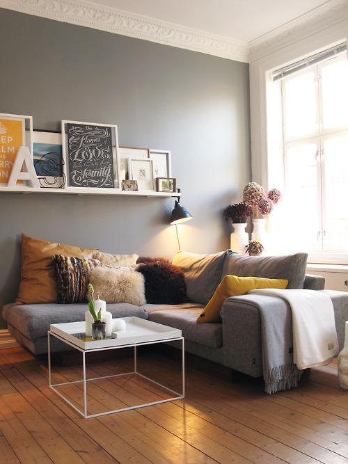 Grau, Alles Andere Als Unscheinbar | Sweet Home Blaue Wandfarbe Graue Mbel