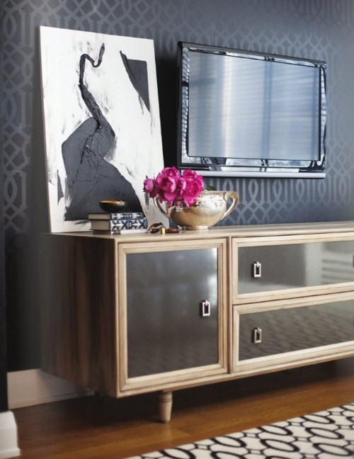 sch ner wohnen mit dem fernseher sweet home. Black Bedroom Furniture Sets. Home Design Ideas