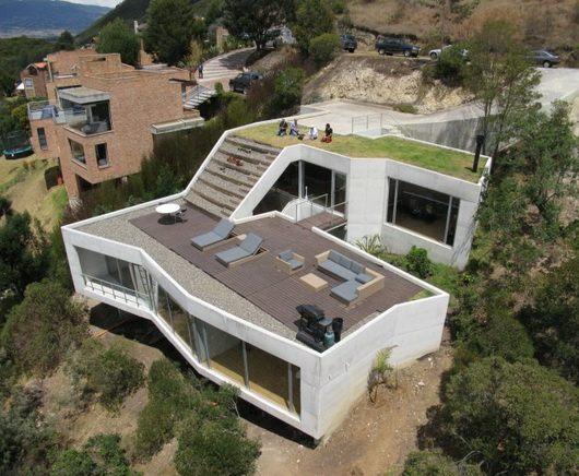 die dachterrasse mit haus sweet home contemporary hillside house plans