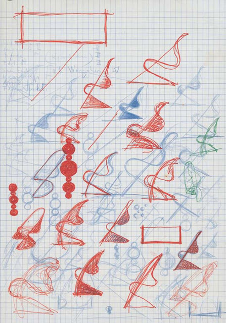 Drawing Verner Panton-1957-60.