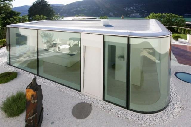 ein kleiner glaspalast am luganersee sweet home. Black Bedroom Furniture Sets. Home Design Ideas