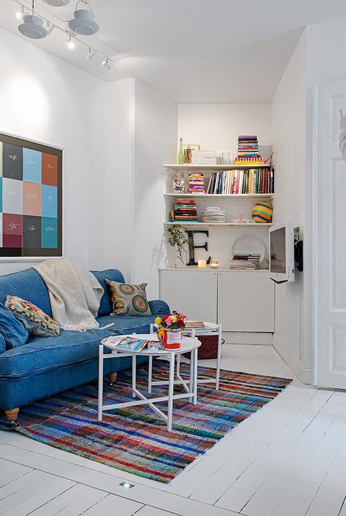nische wohnzimmer nutzen:Kleine Wohnung ganz gross