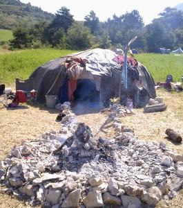 Die Schwitzhütte - ein zentrales Ritual bei der Visionssuche.