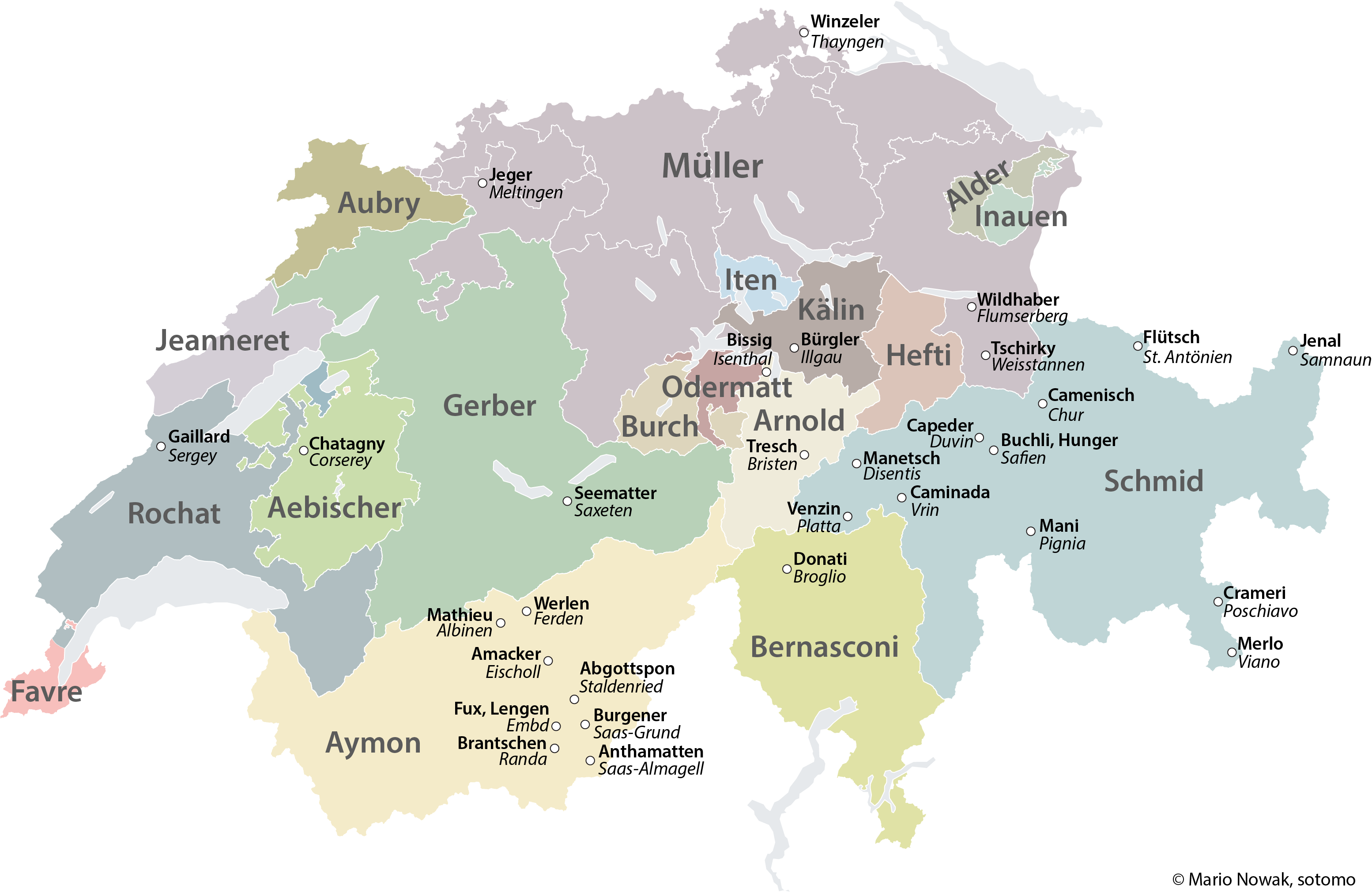 What\'s in a name – most common Swiss surnames and their meaning