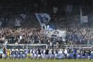 Luzern, 16.03.2014, Fussball Super League - FC Luzern - FC Zuerich, Die Spieler des FCL feiern mit den Fans den Sieg. (Marc Schumacher/EQ Images)