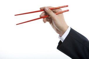 Holding chopsticks