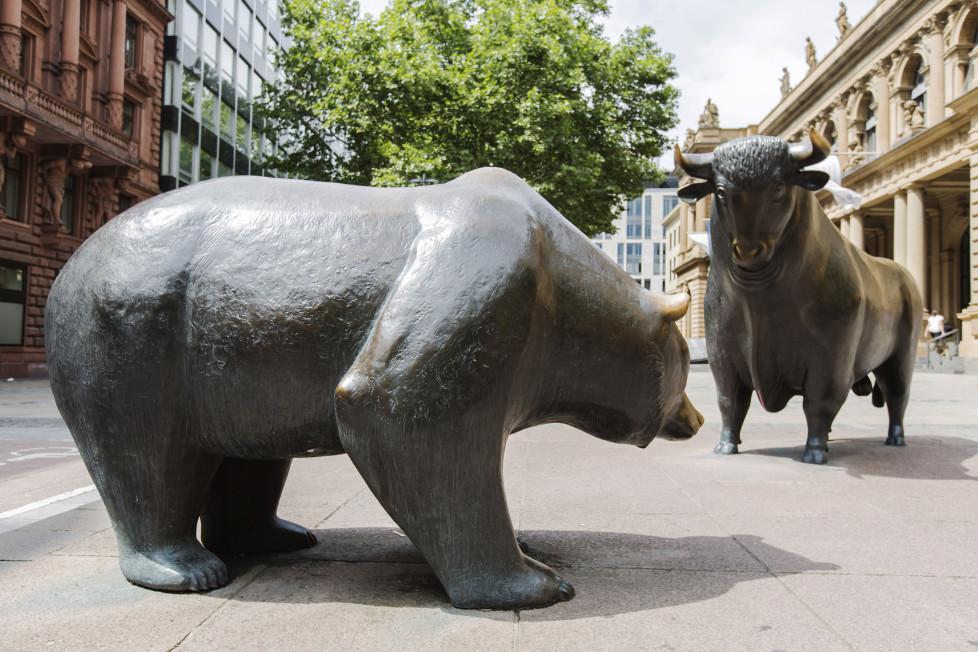 Die Schweiz rutscht nicht in den Bärenmarkt:Der Bulle hält tapfer dagegen. Foto: Getty