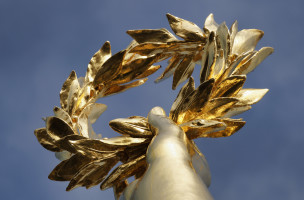 Golden Laurel Wreath, Berlin Victory Column with Gold Else, Berlin center, Berlin, Germany, Europe