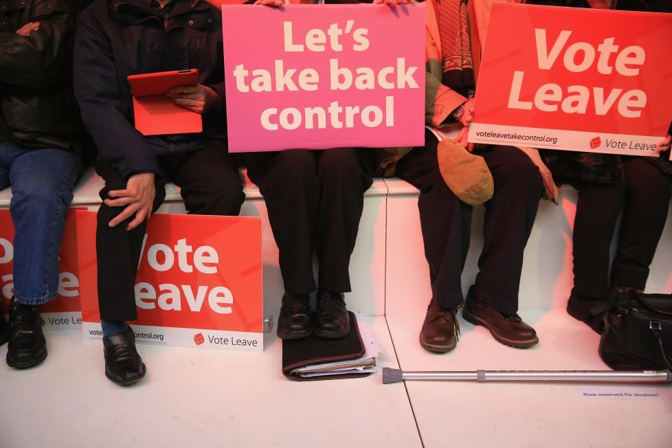 Demo der Brexit-Befürworter: Kontrolle selbst übernehmen, raus aus der EU. Foto: Getty