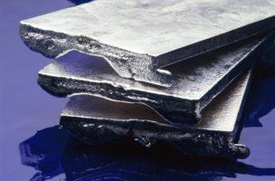 Bars of pure silver