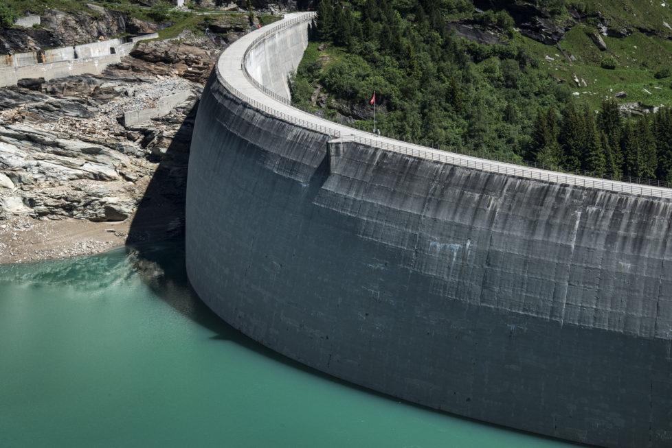 Wasserkraft: Speichersee Zervreila im oberen Valsertal. Foto: Key
