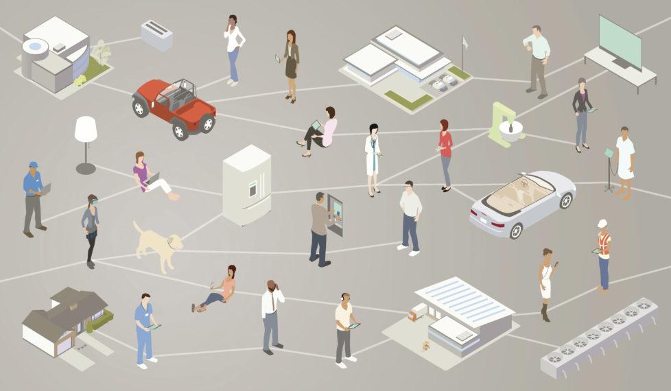 Internet der Dinge: Jedem sein grosses Netzwerk. Foto: Getty