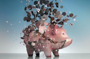 Übervolles Sparschwein? Nicht mit Zinsen vom Sparkonto. Foto Getty Images