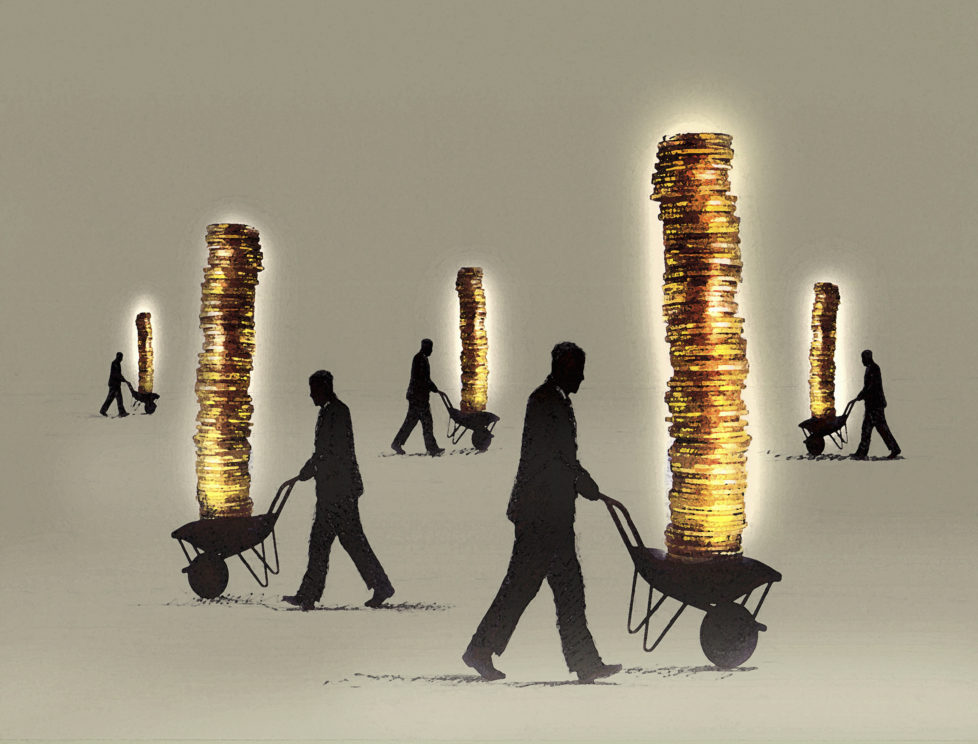 Hohe Beträge: Nicht einfach auf Freizügigkeitskonten liegenlassen. Foto: Getty