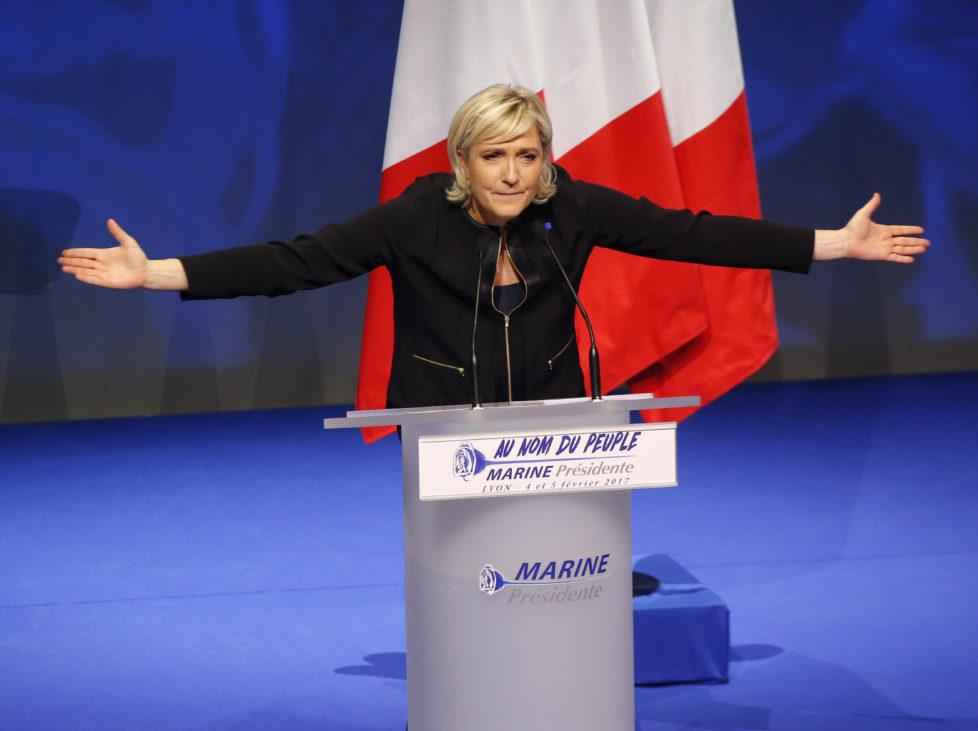 Marine Le Pen: Ihr Abschneiden bei den Wahlen in Frankreich ist entscheidend für den weiteren Verlauf der Aktienmärkte in Europa. Foto: Key