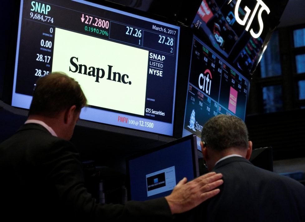 Snapchat-Aktien: Traumstart an der Börse. Foto: Reuters