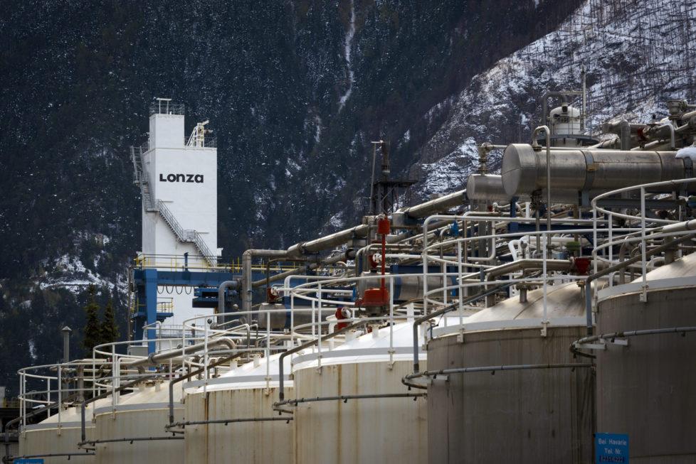 Lonza-Fabrik in Visp: Die Pharma- und Biotechfirma ist strategisch gut aufgestellt. Foto: Key