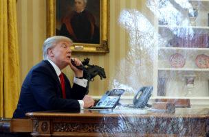 Chaotisch und unkontrollierbar: US-Präsident Donald Trump im Weissen Haus. Jonathan Ernst/Reuters