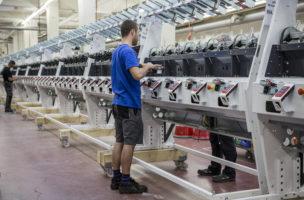 Hohe Dividendenrendite, grosses Kurswachstum: Textilmaschinenhersteller Schweiter in Horgen ZH. Pascal Mora/Keystone