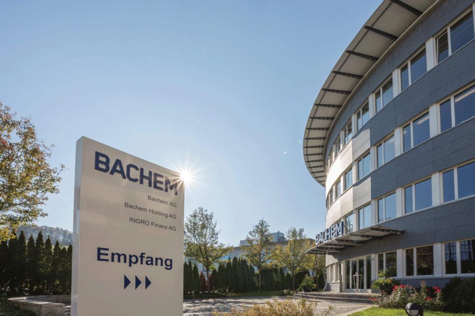 Bachem in Bubendorf BL: Die Biotechfirma überzeugt mit ihren Wachstumsraten. Foto: pd