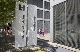 Die Zukunft des Zementriesen ist in Takt: Hauptsitz von LafargeHolcim in Zürich. Foto: Patrick B. Krämer/Keystone