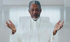 Morgan Freeman als Gott im Film «Bruce Almighty». Foto: Universal.