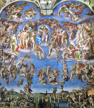 Michelangelos «jüngstes Gericht».