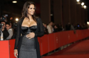 U.S. actress Halle Berry attends the premiere of her latest movie 'Thing we Lost in the Fire' at the Rome International Film Festival