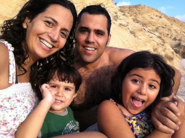 Caro Apter und ihre Familie. Foto: zVg