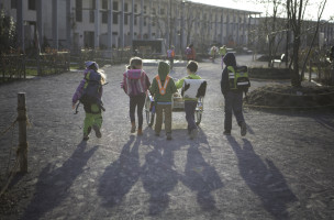Kinder im Zürcher Friesenbergquartier. Foto: Sabina Bobst