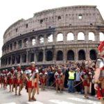Plünderung beim Kolosseum