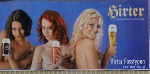 Hirter Bier, Werbung, Erotik, Plakat, GewistaFoto: Clemens Fabry