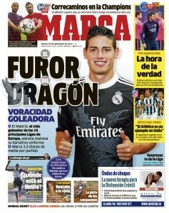 «Marca» zeigt das Trikot, das heute uraufgeführt werden soll.