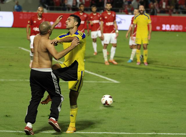 Mideast Israel Soccer Brawl