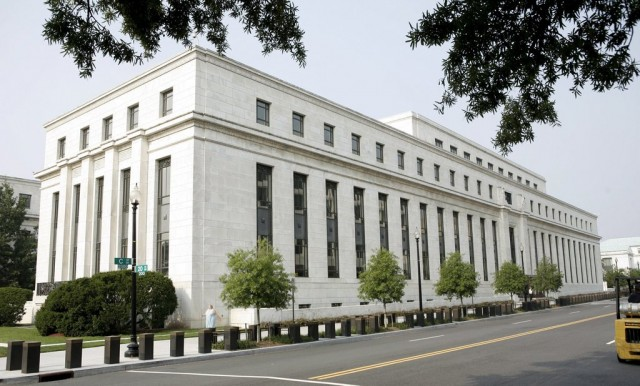 Die US-Notenbank in Washington DC, August 2007. (Keystone/Matthew Cavanaugh)