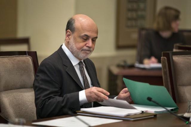 Fed-Chef Ben Bernanke an einer Sitzung in Washington, 24. Oktober 2013. (Keystone/Jim Lo Scalzo)