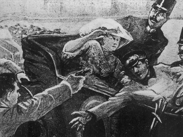 Gravierende Konsequenzen: Die Ermordung von Erzherzog Ferdinand von Österreich-Ungarn und seiner Gemahlin in Sarajevo. (Bild: Keystone)