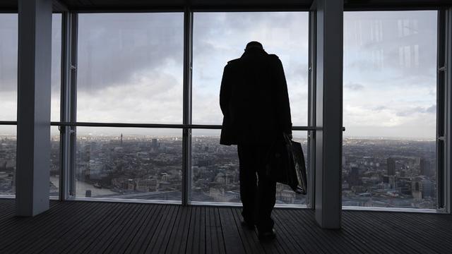 Gute Aussichten: Im Shard in London, dem höchsten Wolkenkratzer der EU, kann man der britischen Wirtschaft beim Wachsen zuschauen. (Foto: Suzanne Plunkett/Reuters)