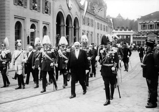 Bundespräsident Forrer und Kaiser Wilhelm. (Keystone)