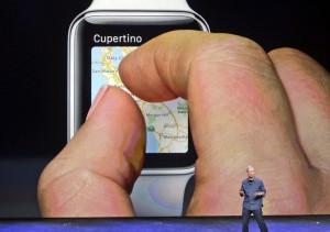 Gadget der Stunde: Apple-CEO Tim Cook präsentiert die erste Smartwatch seines Hauses.