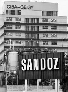 Ciba-Geigy und Sandoz 1986, zehn Jahre vor ihrer Fusion zu Novartis.