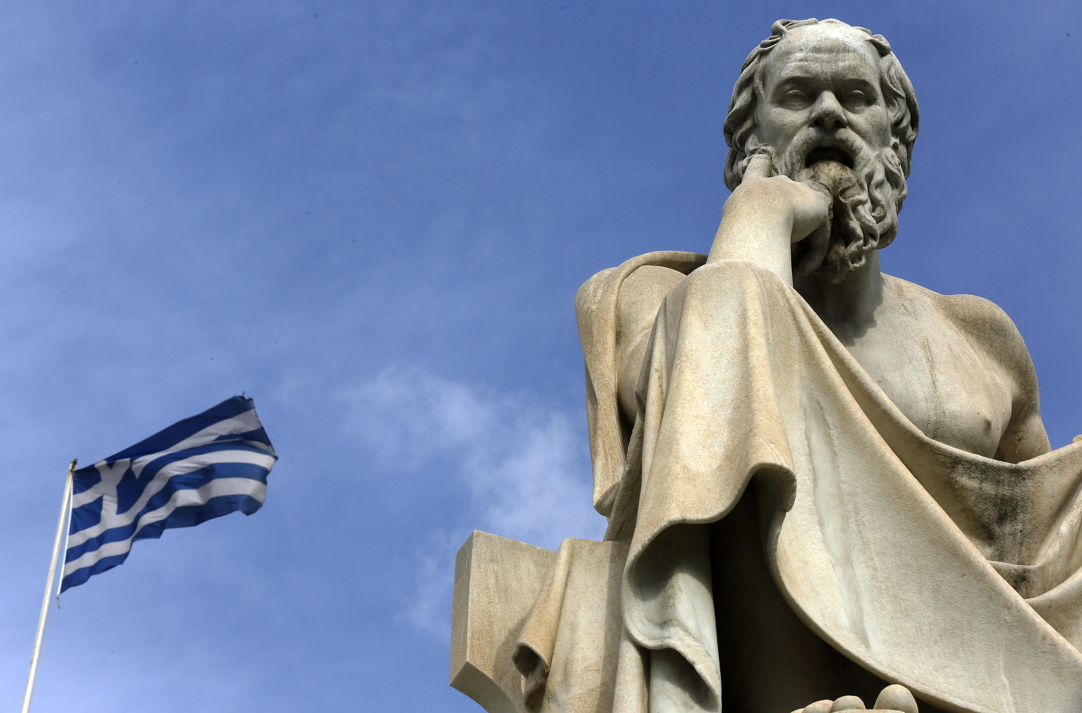 Sokrates-Statue in Athen. Foto: Yannis Behrakis (Reuters)