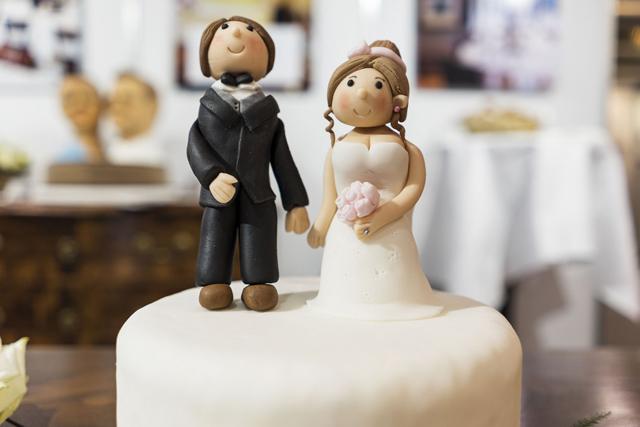 A wedding cake at the wedding exhibition in Zurich, Switzerland, pictured on January 9, 2016. (KEYSTONE/Christian Beutler) Hochzeits- und Festmesse in Zuerich am 09. Januar 2016. (KEYSTONE/Christian Beutler)