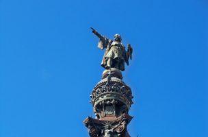 Soll entfernt werden: Die Kolumbus-Statue in Barcelona. (Flickr Güldem Üstün)