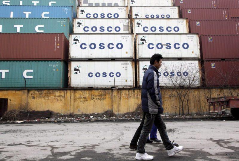 Dominierend: Die Exporte in die USA entsprechen vier Prozent des chinesischen Bruttoinlandprodukts (BIP). Foto: Qilai Shen (EPA, Keystone)