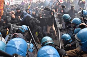 Unzufriedene «Verlierer der Globalisierung»: Demonstration gegen Matteo Renzi in Florenz. (Keystone)