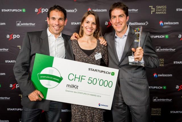 Prämierte Gründer: Das Tubeless-System milKit hat den Swiss Startup Award abgeräumt. Foto: PD